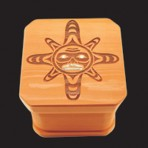 Sun Mask Bentwood Box