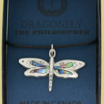 Native Pewter Dragonfly Pendent