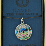 Native Pewter Raven Pendant